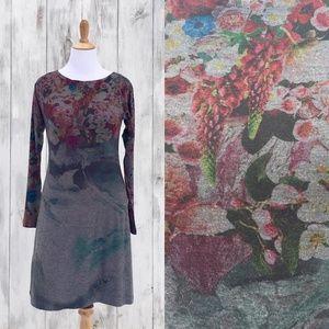 Nally & Millie Gray Floral Print Sheath Dress